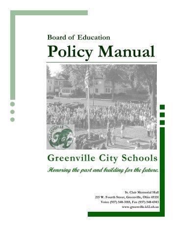 BOE Policy Manual - Greenville City Schools