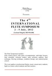 The 4 INTERNATIONAL FLUTE SYMPOSIUM - Edition Svitzer