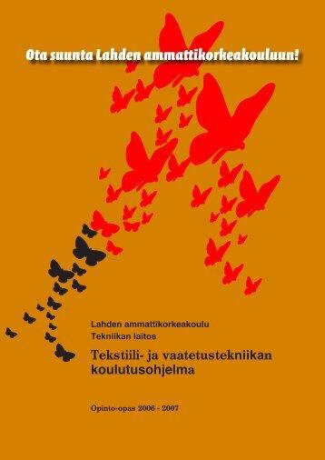 tekstiili- ja vaatetustekniikan koulutusohjelma - Lahden ...