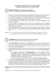 Informationen zu den Seminaren in der Neuen ... - Martinklinkner.de
