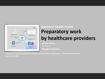 Preparatory work by healthcare providers - Electronic Health Record ...