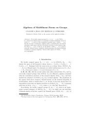 Algebras of Multilinear Forms on Groups - Department of ...