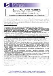 Edital Nº 008 - Convocação para Avaliação de Títulos - Fundação ...