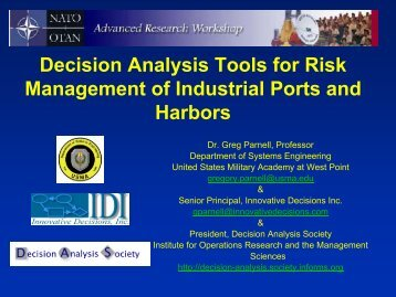 Decision Analysis Tools for Risk Management of ... - Risk Trace