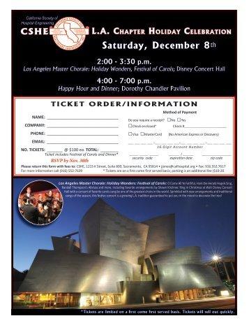 Saturday, December 8th - CSHE