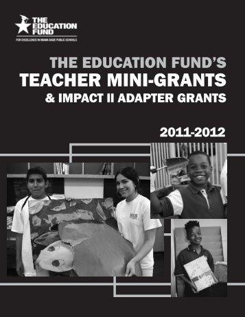 TEACHER MINI-GRANTS - The Education Fund