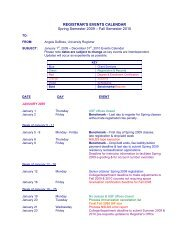 Usf Registrar Calendar.Registrar S Events Calendar Spring Semester 2008 Fall