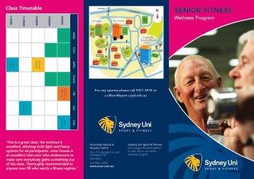 SENIOR FITNESS - Sydney University Sport