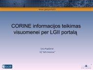CORINE informacijos publikavimas ir duomenų skleidimas ...