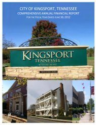 2012 Comprehensive Annual Financial Report - City of Kingsport ...