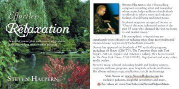 View PDF of the album's liner notes - Inner Peace Music Steven ...