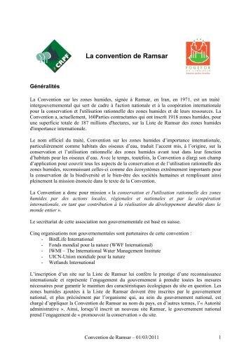 La convention de Ramsar - CRPF Limousin