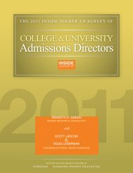 survey of admissions directors - Inside Higher Ed