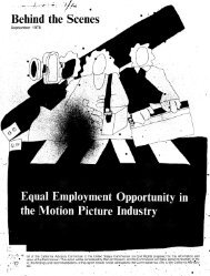 Equal Employment Opportunity in the Motion Picture Industry