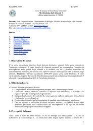 Programma del corso - Università degli Studi della Basilicata