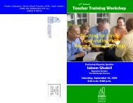 Teacher Training Brochure 2010 - the Pittsburgh Presbytery
