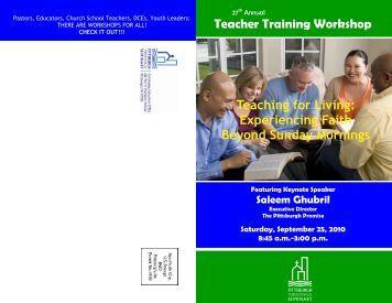 Teacher Training Brochure 2010 - the Pittsburgh Presbytery