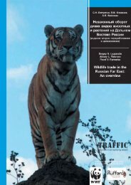 Wildlife trade in the Russian Far East: an overview (PDF, 2.4 ... - Traffic