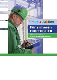 Für sicheren DURCHBLICK - FAVORIT Arbeitsschutz