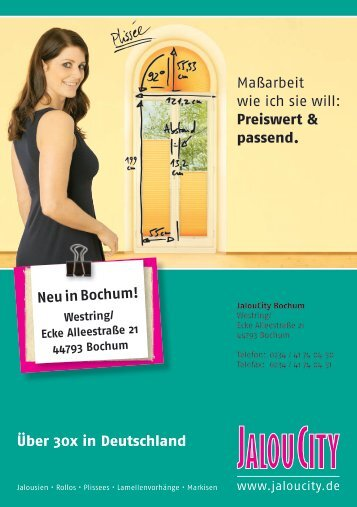 Über 30x in Deutschland Neu in Bochum!
