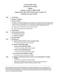 Lompoc Public Library Library Board of Trustees Agenda Tuesday ...