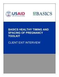 HTSP Client Exit Interview - basics
