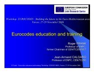 Eurocodes education and training - ELSA