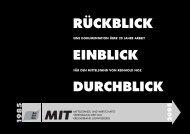 PDF: Rückblick, Einblick, Durchblick - MIT Kreisverband Ludwigsburg