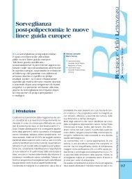 Sorveglianza post-polipectomia: le nuove linee guida europee - Sied