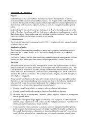 code of conduct policy - Jacksons Security