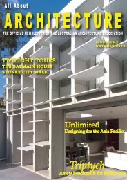 AAA newsletter - Australian Architecture Association