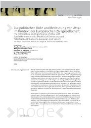Zur politischen Rolle und Bedeutung von Attac im Kontext der ... - node