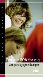 Det gør FOA for dig som pædagogmedhjælper