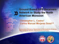 The North American Monsoon - Department of Atmospheric Sciences