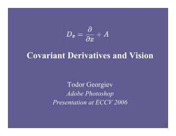 Covariant Derivatives and Vision - Todor Georgiev