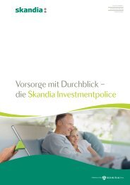 Vorsor¯e mit Durchblick – die Skandia Investmentpolice