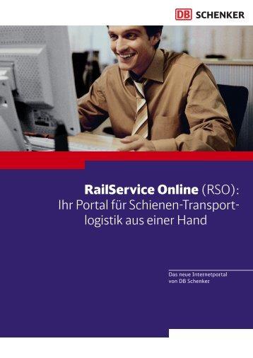 RailService Online (RSO): Ihr Portal für ... - DB Schenker Rail
