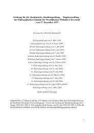 Ordnung für die Akademische Abschlussprüfung - ZSB ...
