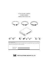 ccd color camera cs9000 series operation manual - Site ftp Elvitec