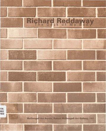 Richard Reddaway: the deck of my body - Christchurch Art Gallery