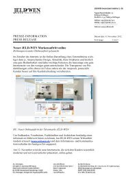 PRESSE-INFORMATION PRESS RELEASE Neuer JELD-WEN ...