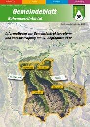 Sonderausgabe September 2012 - Gemeinde Rohrmoos-Untertal