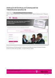 Anleitung Sprachbox Lite - T-Mobile Business