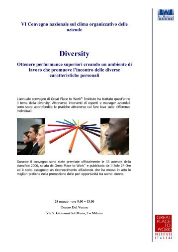 Diversity - Great Place to Work Institute
