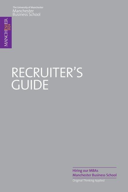 Career Management Service - Manchester Business School