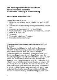 SZB Beratungsstellen für taubblinde und hörsehbehinderte ...