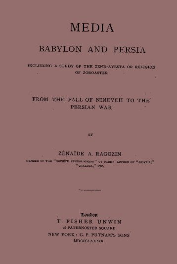 BABYLON AND PERSIA