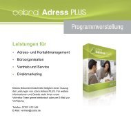 Programmvorstellung cobra Adress Plus - media-service consulting ...