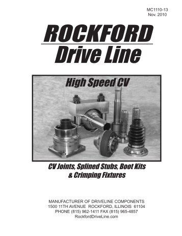 High Speed CV Joints... - Rockford Drive Line