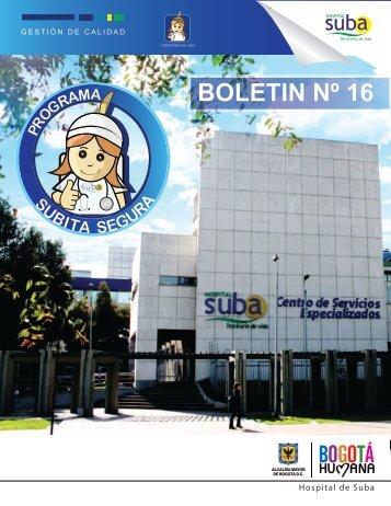 Boletin Subita Segura N° 16 - Hospital Suba